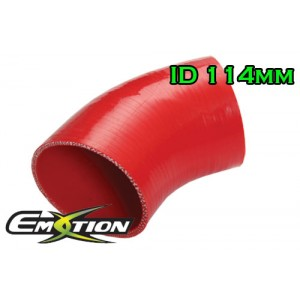 114mm 4.5 inch Silicone Elbow 45 Degree Hose Red - Emotion ( EASHU03-45D114R )