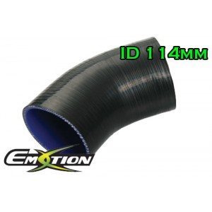 114mm 4.5 inch Silicone Elbow 45 Degree Hose Black - Emotion ( EASHU03-45D114BK )