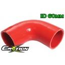 60mm 2.375 inch Silicone Elbow 90 Degree Hose Red - Emotion ( EASHU03-90D60R )