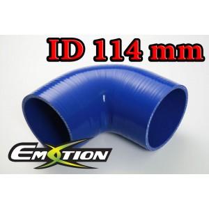 114mm 4.5 inch Silicone Elbow 90 Degree Hose Blue - Emotion ( EASHU03-90D114B )