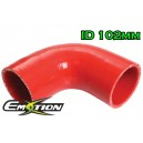 102mm 4 inch Silicone Elbow 90 Degree Hose Red - Emotion ( EASHU03-90D102R )