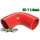 114mm 4.5 inch Silicone Elbow 90 Degree Hose Red - Emotion ( EASHU03-90D114R )