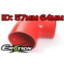 57mm 64mm Silicone 90 Degree Reducer Hose Red - Emotion ( EASHU04-5764R )