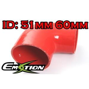 60mm 51mm Silicone 90 Degree Reducer Hose Red - Emotion ( EASHU04-5160R )