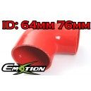 64mm 76mm Silicone 90 Degree Reducer Hose Red - Emotion ( EASHU04-6476R )