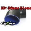 38mm 51mm Silicone 90 Degree Reducer Hose Black - Emotion ( EASHU04-3851B)