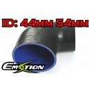 44mm 54mm Silicone 90 Degree Reducer Hose Black - Emotion ( EASHU04-4454BK )