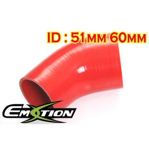51mm 60mm Silicone 45 Degree Reducer Hose Red - Emotion ( EASHU04A-5160R )