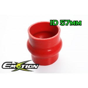 57mm 2.3 inch Silicone Hump Hose Bellow Connector Red - Emotion ( EASHU05-57R )