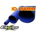 80mm 3.1 inch ID Silicone Straight Hose 1 Meter Blue - Emotion ( EASHU01-1M80B )
