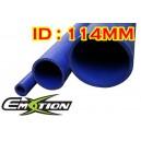 114mm 4.5 inch ID Silicone Straight Hose 1 Meter Blue - Emotion ( EASHU01-1M114B )