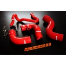 Audi A4 B5 8D 1.8T Silicone Intercooler Turbo Hose Kit 96-01 Quattro (Red) - Autobahn88 (ASHK90-R)