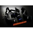 Audi A4 B5 8D 1.8T Silicone Intercooler Turbo Hose Kit 96-01 Quattro (Black) - Autobahn88 (ASHK90-BK)