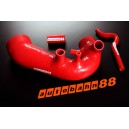 Induction Pipe for Audi A4 1.8T/ 1.8T Quattro B6 Moto Code: AEB/ATW + 1 meter 3mm vacuum hose (Red) - Autobahn88 (ASHK92A-R)