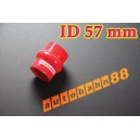 57mm 2.3 inch Silicone Hump Hose Bellow Connector Red - Autobahn88 ( ASHU05-57R )