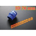76mm 3 inch Silicone Hump Hose Bellow Connector Blue - Autobahn88 ( ASHU05-76B )