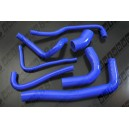 Silicone Turbo Hose Kit for SAAB 9-3 Sport - 2003 to 2008 - all 4 cylinder (Blue) - Autobahn88 (ASHK209-B)