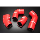Silicone SuperCharger Hose Connecting Kit for VW Corrado G60 1.8L SuperCharger 1988 - 1995  (Red) - Autobahn88 (ASHK224-R)
