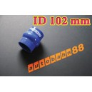 102mm 4 inch Silicone Hump Hose Bellow Connector Blue - Autobahn88 ( ASHU05-102B )