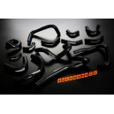 Silicone Heater hose kit for Nissan Skyline GTR R33-34 (Black) - Autobahn88 (ASHK107-BK)