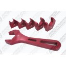 AN Adjustable Aluminium Wrench Fittings Tools Spanner (Flame Style) - Autobahn88 - (AS033)