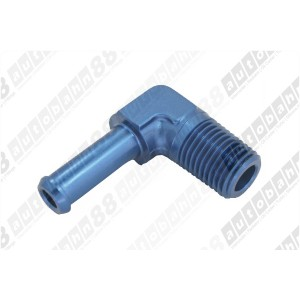 3/8 NPT to OD 12mm (AN8 AN-8 AN 8) Barb Forged 90 degree Adapter Fuel Fitting - Autobahn88 - (FT050-A08N38)