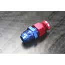 "AN-6 (AN6) STRAIGHT Male to 3/8"" 0.375"" Aluminum Fuel Hose Tube / Pipe / Hardline Fitting Adapter - Autobahn88 - (FT161-A06)"