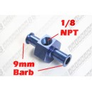 9mm Barb 1/8 NPT Fuel Oil Pressure Gauge Sensor Sendor Adaptor - Autobahn88 - (FT137-B09)