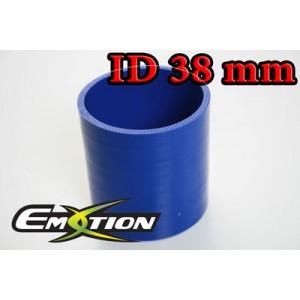 Silicone Straight Hose Coupler 1.5 inch 38mm Blue - Emotion ( EASHU01-38B )