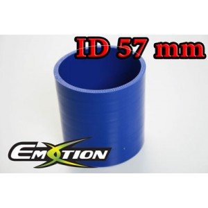 Silicone Straight Hose Coupler 2.28 inch 57mm Blue - Emotion ( EASHU01-57B )