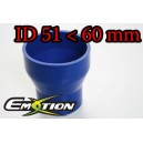 60mm 51mm Silicone Straight Reducer Hose Silicon Blue - Emotion ( EASHU02-5160B )