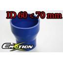 70mm to 60mm ID BLUE Straight Reducer Silicone Hose - Emotion ( EASHU02-6070B )