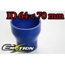70mm 64mm Silicone Straight Reducer Hose Silicon Blue - Emotion ( EASHU02-6470B )