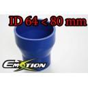 80mm 63mm Silicone Straight Reducer Hose Silicon Blue - Emotion ( EASHU02-6480B )