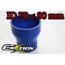 80mm 70mm Silicone Straight Reducer Hose Silicon Blue - Emotion ( EASHU02-7080B )