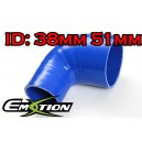 38mm 51mm Silicone 90 Degree Reducer Hose Blue - Emotion ( EASHU04-3851B)
