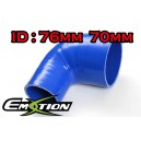 76mm 70mm Silicone 90 Degree Reducer Hose Blue - Emotion ( EASHU04-7076B )