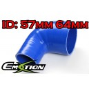 57mm 64mm Silicone 90 Degree Reducer Hose Blue - Emotion ( EASHU04-5764B )