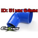 64mm 51mm Silicone 90 Degree Reducer Hose Blue - Emotion ( EASHU04-5164B )