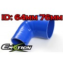 64mm 76mm Silicone 90 Degree Reducer Hose Blue - Emotion ( EASHU04-6476B )