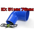 76mm 51mm Silicone 90 Degree Reducer Hose Blue - Emotion ( EASHU04-5176B )