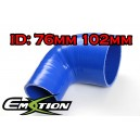 76mm 102mm Silicone 90 Degree Reducer Hose Blue - Emotion ( EASHU04-76102B )