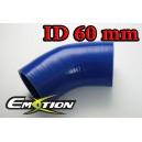 60mm 2.375 inch 45 Degree Silicone Hose Elbow Blue - Emotion ( EASHU03-45D60B )