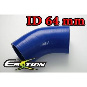 64mm 2.5 inch 45 Degree Silicone Hose Elbow Blue - Emotion ( EASHU03-45D64B )