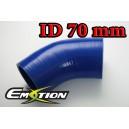 70mm 2.75 inch 45 Degree Silicone Hose Elbow Blue - Emotion ( EASHU03-45D70B )