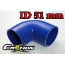 51mm 2 inch Silicone Elbow 90 Degree Hose Blue - Emotion ( EASHU03-90D51B )