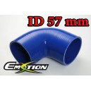 57mm 2.25 inch Silicone Elbow 90 Degree Hose Blue - Emotion ( EASHU03-90D57B )