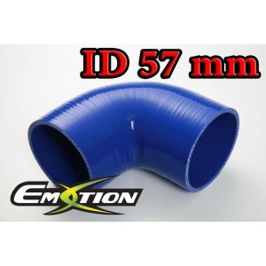 57mm 2.25 inch Silicone Elbow 90 Degree Hose Blue - Emotion ( EASHU03-90D57B )