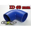 60mm 2.375 inch Silicone Elbow 90 Degree Hose Blue - Emotion ( EASHU03-90D60B )
