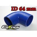 64mm 2.5 inch Silicone Elbow 90 Degree Hose Blue - Emotion ( EASHU03-90D64B )